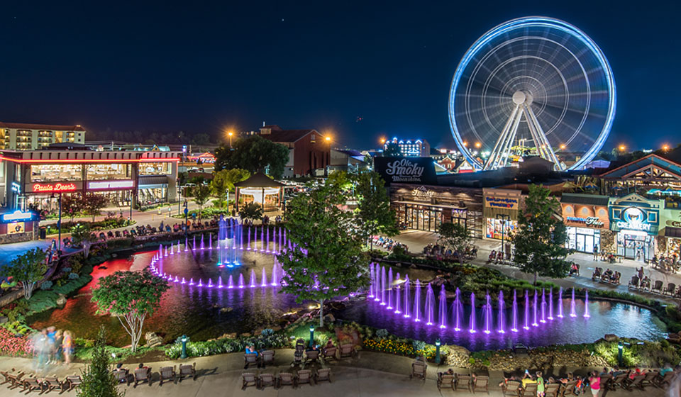 The islands in Pigeon Forge, Tennessee